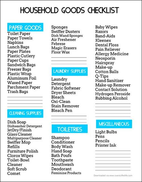 cleaning supplies checklist an easy way to save money on household goods free