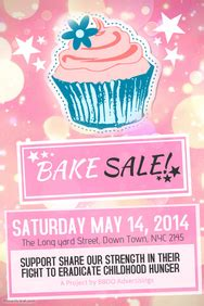 Customizable Design Templates For Bake Sale Postermywall Bake Sale Fundraiser Flyer Template