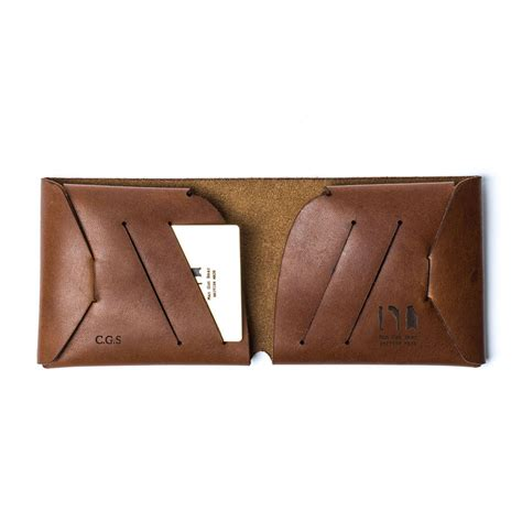 Origami Leather Wallet - personalised origami leather wallet by gun