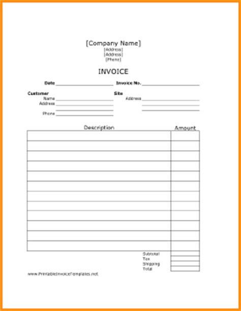 invoice pages template invoice template pages hardhost info