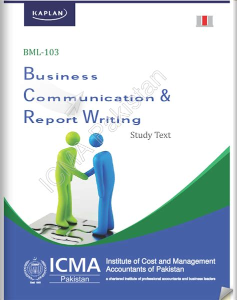 business communication and report writing books icmap semester 1 riaz academy
