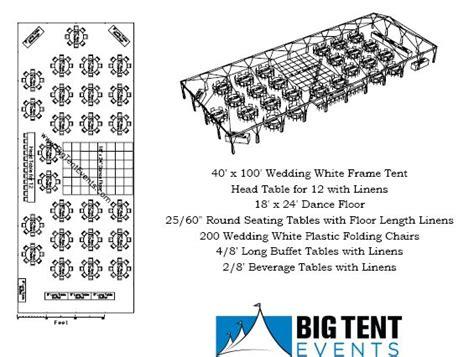 wedding layout tent wedding rentals 200 guests chicago il