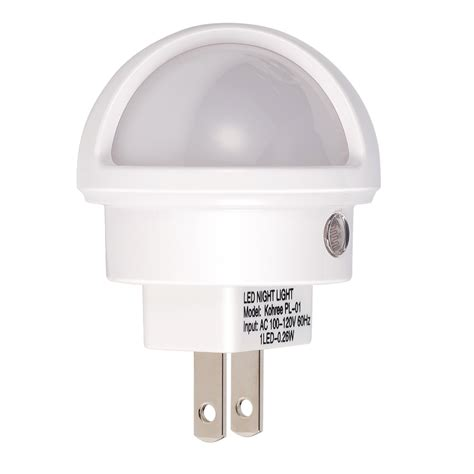4x kohree pack white led night light plug in with auto