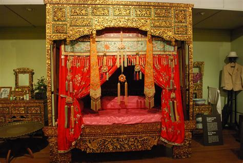 Chinese wedding night bed displayed in the Penang State