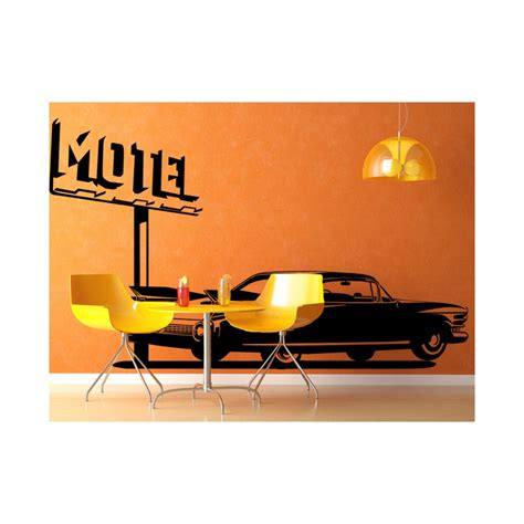 cadillac motels stickers cadillac et motel d 233 coration murale am 233 ricaine