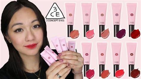 3 Ce Liquid Lip Color 3ce liquid lip color lip swatches and review