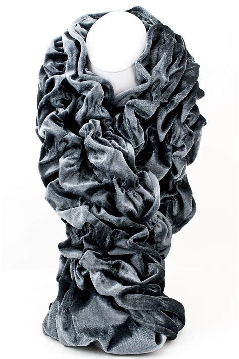 ruffled velvet scarf scarves