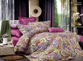 Bedding Sets Paisley Cotton Pink Paisley Satin Luxury Bedding