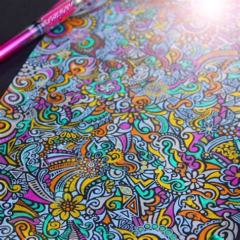 gel pen doodle webb gel pen zentangle colour