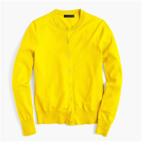 The Yellow Sweater yellow cotton cardigan tulips clothing