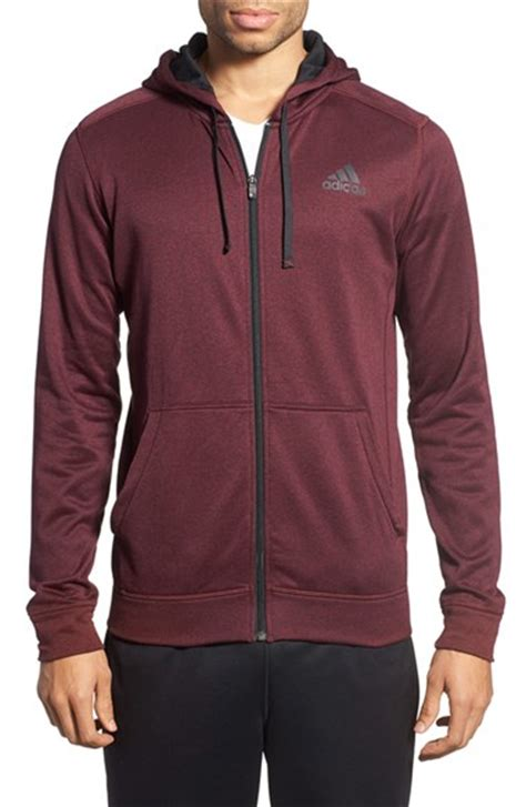 Longline Shirt Fregie Bandana Zipper Maroon adidas ultimate zip fleece hoodie in purple for lyst
