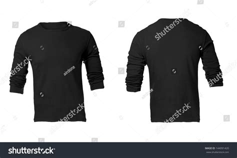 black sleeve shirt template s black sleeve t shirt template stock photo