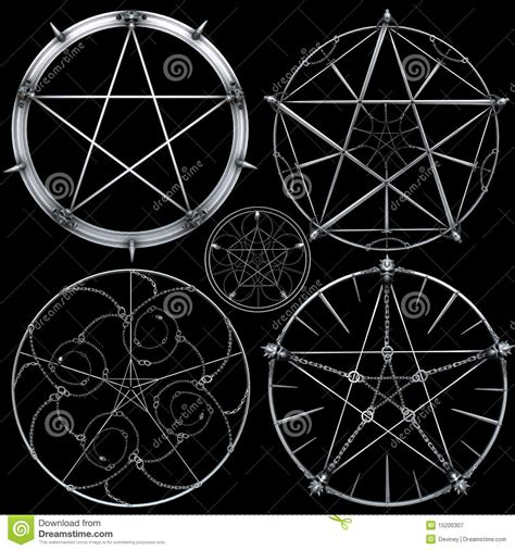 picture designs pentagram designs stock illustration image of shines