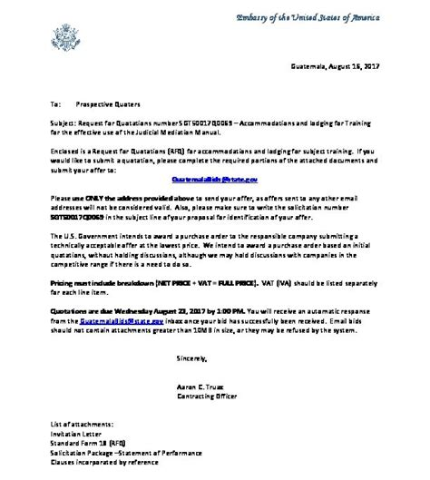 Formal Embassy Letter Of Invitation invitation letter sgt50017q0069 u s embassy in guatemala