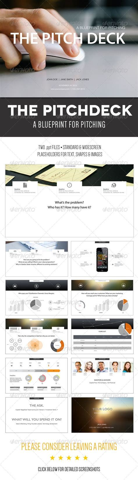 the pitch deck a powerpoint template fonts startups