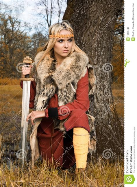 viking warrior stock photo image of beautiful hair