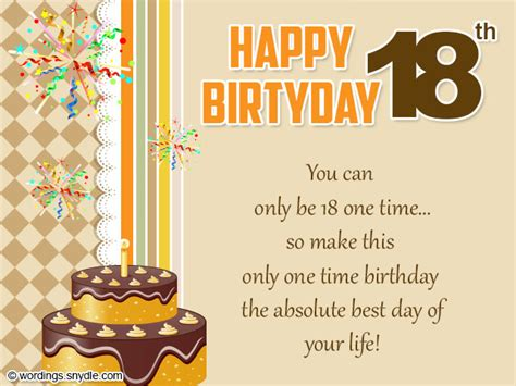 Happy 18th Birthday Wishes 18th Birthday Wishes Greeting And Messages Wordings And