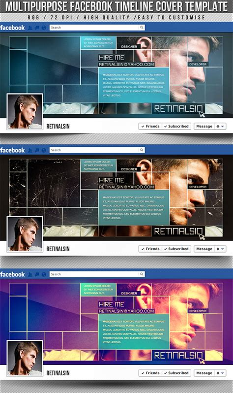 psd multipurpose timeline cover by retinathemes