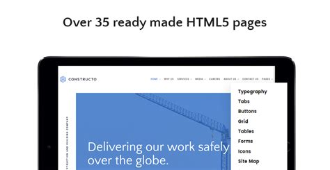 readymade templates for asp net constructo architecture construction company