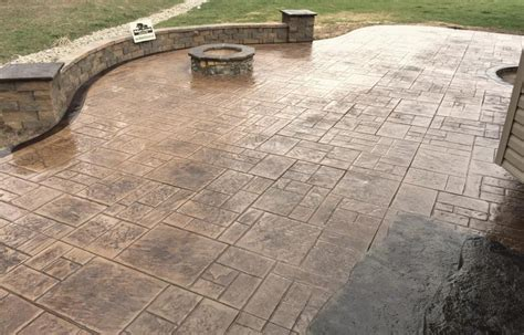 Pit On Concrete Patio by Walkers Concrete Llc Sted Concrete Patio Sted