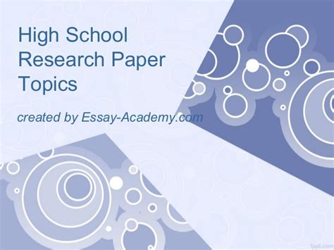 Modern Research Paper Topics by High School Research Paper Layout What Is Modern Essay