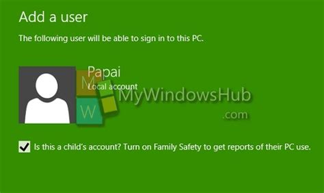 children s bank accounts create windows 10 user accounts without using email