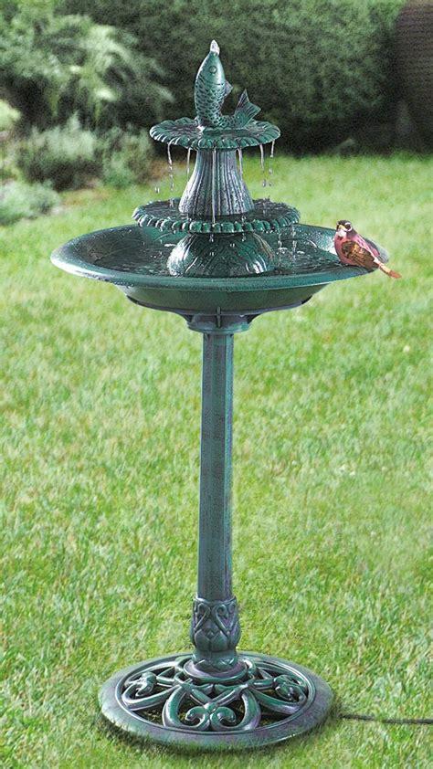 Bird Bath Fountain White ? SAVARY Homes