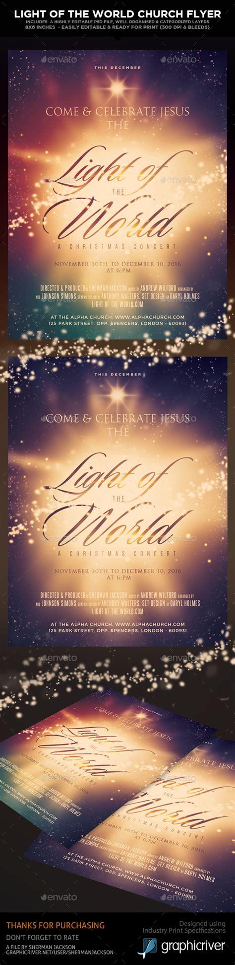 light of the christian church light of the church christian themed flyer by