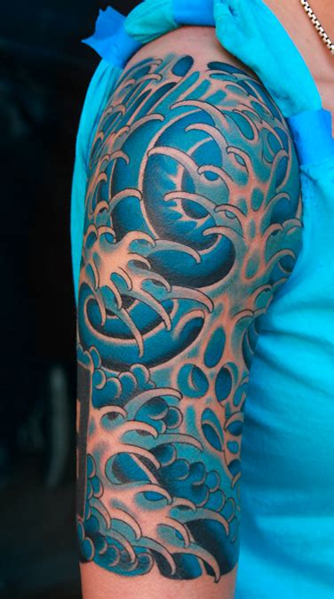 japanese waves tattoo designs wave ideas cool tattoos sleeve