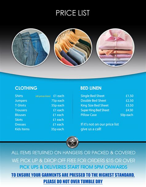 ironing service flyer template welcome to iron your local professional ironing service