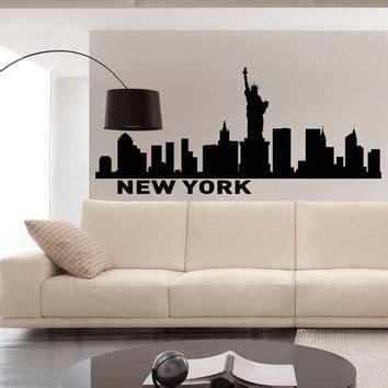 home decor new york city best new york skyline silhouette wall art products on wanelo