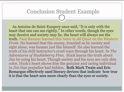 Conclusion Exle For Essay by Critical Lens Essay 5 Writing The Conclusion