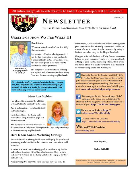 newsletter templates for blogger kirby gate launches newsletter explaining social media