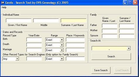 Search Ancestry Family Tree Template Genealogy Search