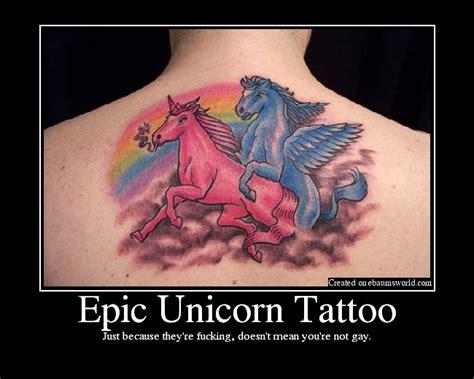tattoo fail unicorn epic unicorn tattoo picture ebaum s world