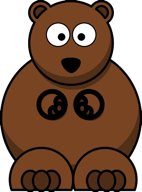 imagenes animados de osos vector gratis oso lindo dibujos animados imagen