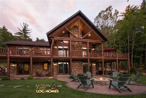 Floor Plans Walkout Basement golden eagle log and timber homes log home cabin