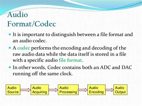 which audio file format is the best quality ppt on audio file formats