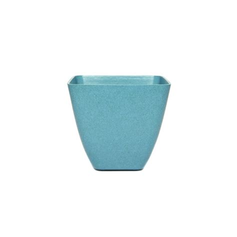 square planter pots green tones small square plant pot aqua blue garden planter ebay