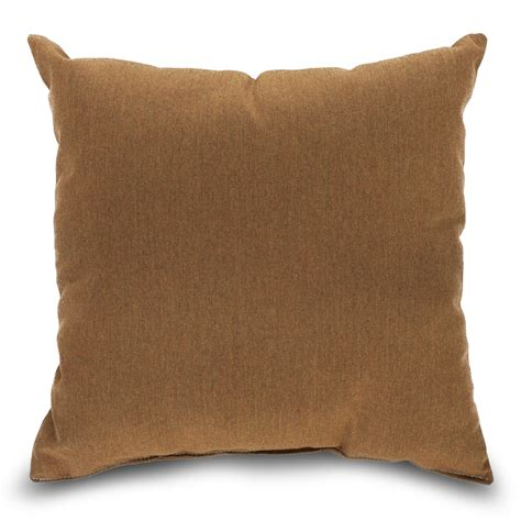 Canvas Pillows by Sunbrella Throw Pillow Brown Teak Dfohome