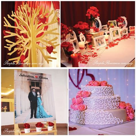 Wedding Mewah by Wedding Decoration At Bukit Mewah Club Kajang Maroon