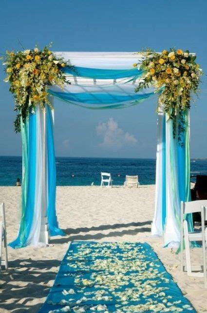 romantic blue beach wedding ideas weddingomania