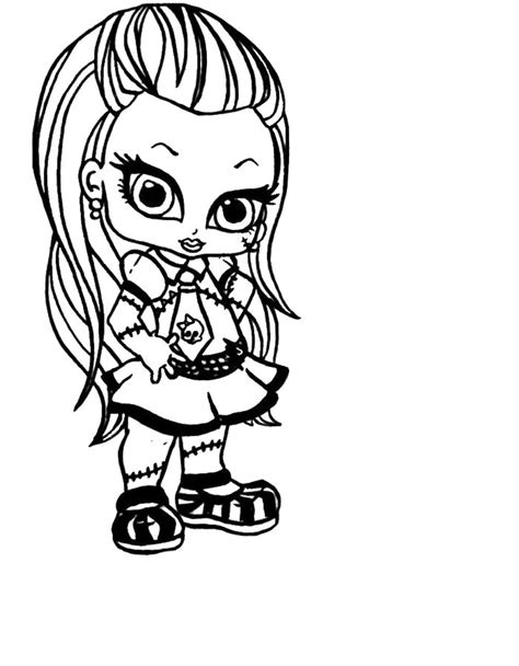 little monster high coloring pages monster high little frankie stein coloring pages monster