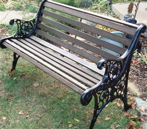 iron wood bench diy how to restore a cast iron and wood garden bench