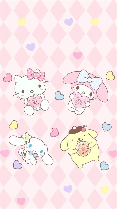 Hello Kitty Macaron Wallpaper | sanrio pom pom purin and macaron wallpaper 183