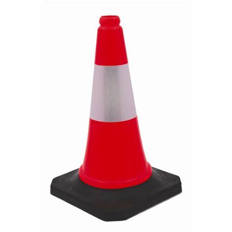 builders edge 500mm soft traffic safety cone bunnings
