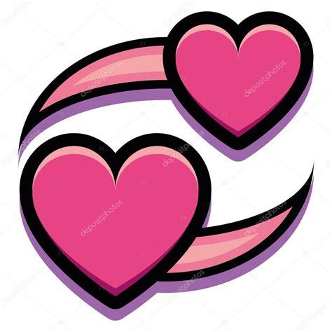 imagenes de corazones decepcionados dibujos animados de dos corazones aislados sobre fondo