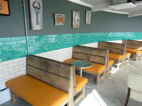 pub bench seating restaurant seating hill upholstery design