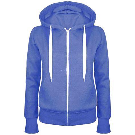 Jacket Sweater Hoodies 6 plain hoody zip top womens hoodies sweatshirt