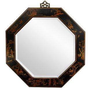 black mirror description oriental furniture black lacquer octagonal mirror home